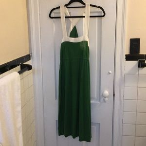 Green Anthro halter midi